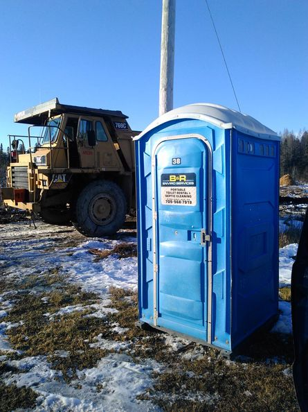 Portable toilet on-site